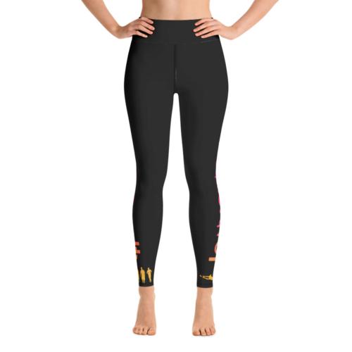 3dfb0c89e9af40 LATB 2019 Womens Leggings – black w aqua/gold/pink logo